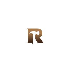 Creative r alphabet letter hammer logo vector