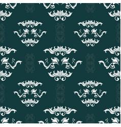 damask hand drawn seamless pattern vector image