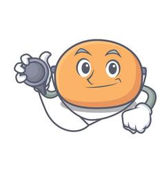 Doctor mochi character cartoon style vector