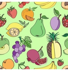 Doodle pattern fruit vector image