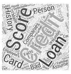 Facts about credit scores Word Cloud Concept vector