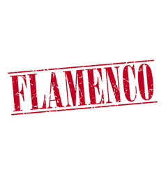 Flamenco red grunge vintage stamp vector