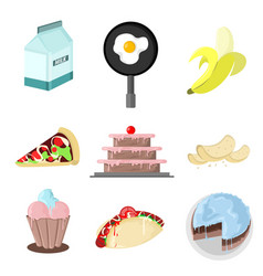 Foody drawing graphic set vector