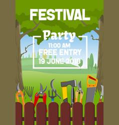 Gardening party gardener festival vector