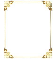 Gold frame vignette vector