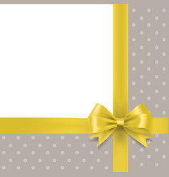 golden bow and ribbon border holiday background vector image