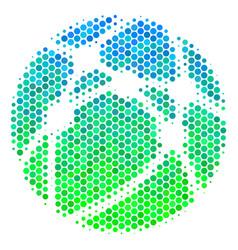 halftone blue-green web browser icon vector image