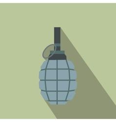 Hand grenade flat icon vector image
