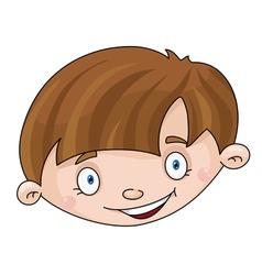 head of the boy vector image