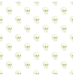 Human skull pattern cartoon style vector image