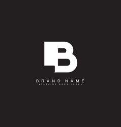 Initial letter lb logo - minimal business logo vector