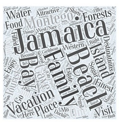 jamaica family vacation Word Cloud Concept vector image