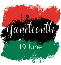 Juneteenth celebrate freedom vector