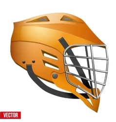 Lacrosse Helmet Side View vector