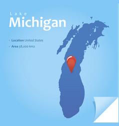 Lake michigan vector