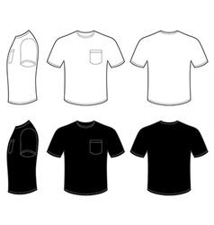 Mans T Shirt with Pocket vector image