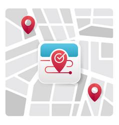 map app icon vector image