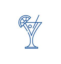 martini line icon concept martini flat vector image