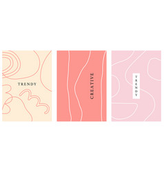 minimal abstract geometric covers set vector image