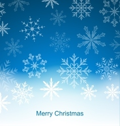 New Year Blue Background with Snowflakes vector