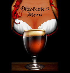 Oktoberfest waitress womens festive decollete vector