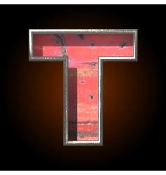 Old metal letter t vector