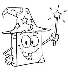 Outlined Wizard Book vector
