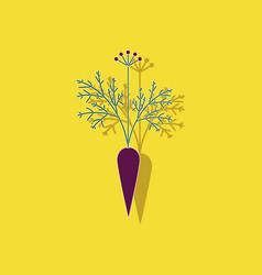 Paper sticker on background of daucus carota vector