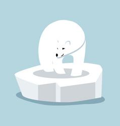Polar bear on ice floe vector