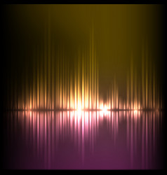 purple-yellow wave abstract equalizer background vector image