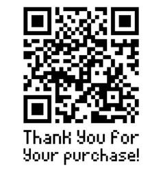 qr code sample with text thank you for your vector image