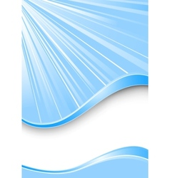 ray background - blue color vector image vector image