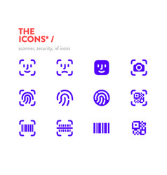 scanners icons set 48x48 pixel perfect editable vector image