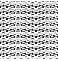 seamless pattern with dots and triangles vector image
