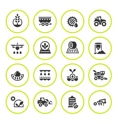 Set round icons of agriculture vector