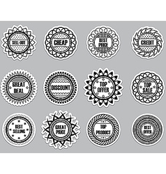 Set sticker for Selling vector