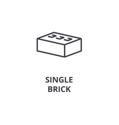 Single brick line icon sign vector