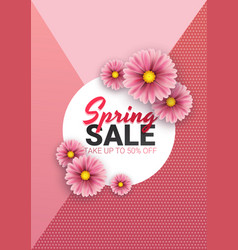 spring sale floral advertizing poster board vector image