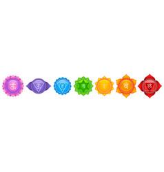 Tantra sapta chakra meaning seven meditation wheel vector