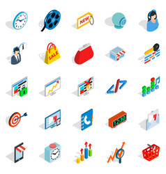 technical trifle icons set isometric style vector image
