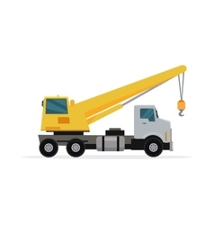 Telescopic Truck Crane in Flat Design vector