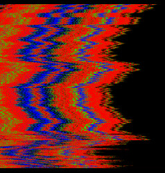 television interference glitch vector image