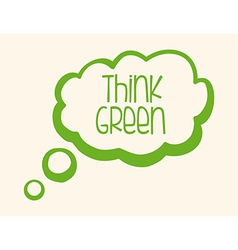 think green design vector image