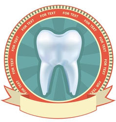 Tooth label set with mesh effect vector