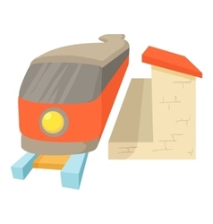 Train icon cartoon style vector