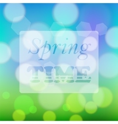 Transparent Spring Time Banner vector