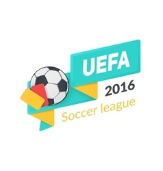 UEFA Euro 2016 badge isolated on white vector image