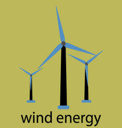 Wind energy icon vector