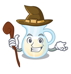 Witch milk jug completely filled with character vector