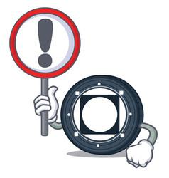 With sign byteball bytes coin character cartoon vector